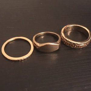 Topshop and Urban Outfitters Gold Rings